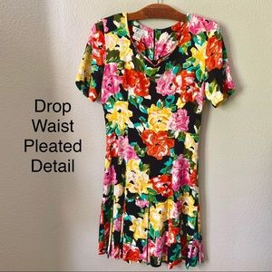 Vintage 80's Floral Dress Small 4